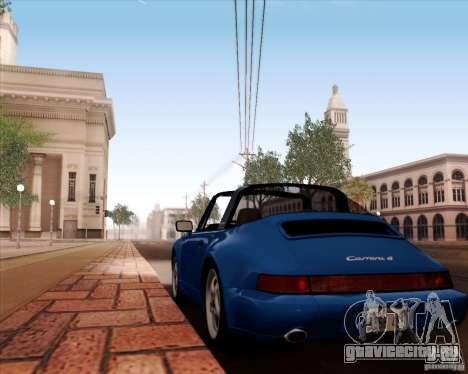 Porsche 911 Carrera 4 Targa (964) 1989 для GTA San Andreas вид сверху