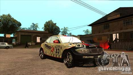 BMW 135i Coupe GP Edition Skin 1 для GTA San Andreas вид сзади