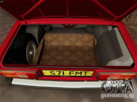 Lada 2105 RIVA (Экспортная) 2.0 для GTA San Andreas салон