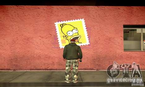 Simpson Graffiti Pack v2 для GTA San Andreas второй скриншот
