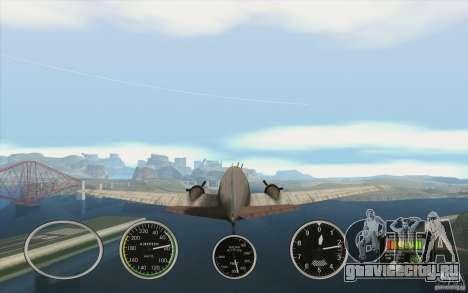 Авиа приборы в самолете для GTA San Andreas второй скриншот
