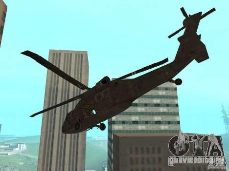 UH-60 Black Hawk для GTA San Andreas вид слева