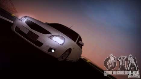 ВАЗ 2170 California для GTA San Andreas вид сзади