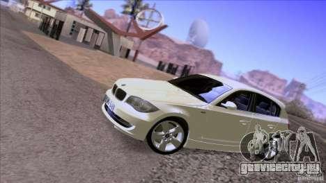 BMW 120i 2009 для GTA San Andreas вид изнутри