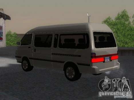 Toyota Hiace Super Custom для GTA San Andreas вид слева