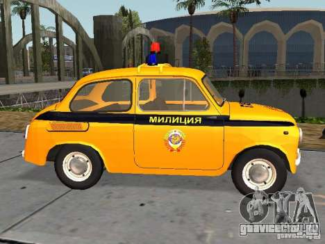 ЗАЗ-965 Советская милиция для GTA San Andreas вид слева
