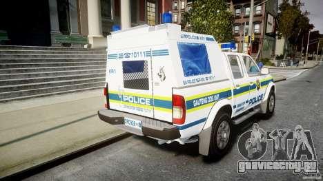 Nissan Frontier Essex Police Unit для GTA 4 вид сбоку
