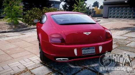 Bentley Continental SS v2.1 для GTA 4 вид сзади слева