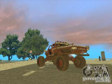 Jeep from Red Faction Guerrilla для GTA San Andreas вид слева
