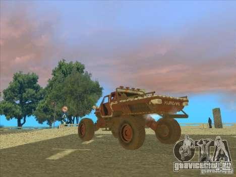 Jeep from Red Faction Guerrilla для GTA San Andreas вид слева