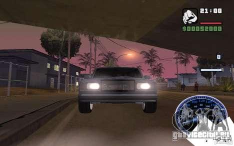 ВАЗ 2107 Light Tuning для GTA San Andreas вид сзади слева
