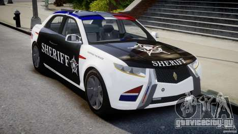 Carbon Motors E7 Concept Interceptor 2012 Sheriff [ELS] для GTA 4
