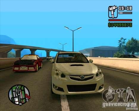 Subaru Legacy 2010 v.2 для GTA San Andreas вид слева