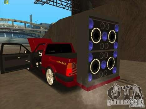 Volkswagen Saveiro Summer для GTA San Andreas вид справа