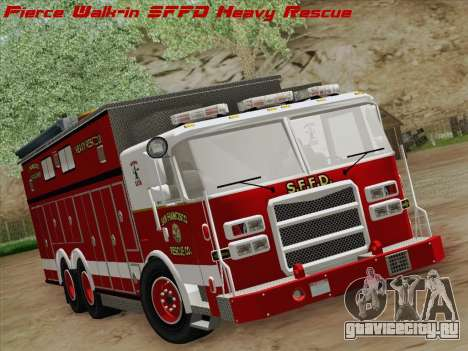 Pierce Walk-in SFFD Heavy Rescue для GTA San Andreas