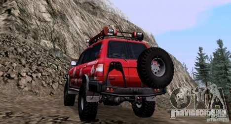 Toyota Land Cruiser 100 Off-Road для GTA San Andreas вид сзади слева