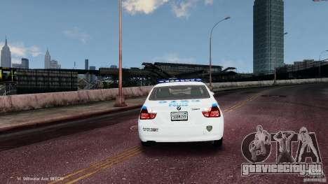 NYPD BMW 350i для GTA 4 вид справа