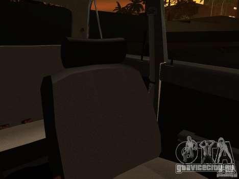 ВАЗ 2106 Полиция v2.0 для GTA San Andreas вид снизу