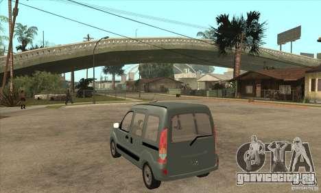 Renault Kangoo 2005 для GTA San Andreas вид сзади слева