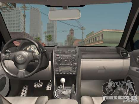 Lexus IS300 HellaFlush для GTA San Andreas вид снизу