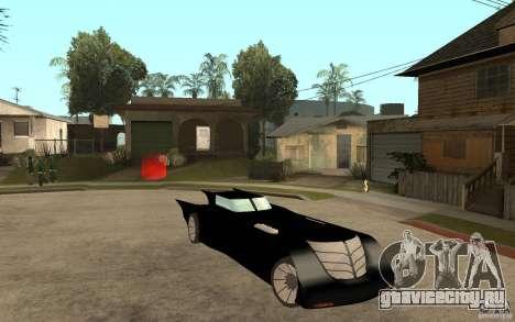 Batmobile Tas v 1.5 для GTA San Andreas вид сзади