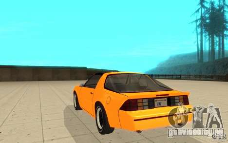 Chevrolet Camaro 1986 Targa Top для GTA San Andreas вид сзади слева