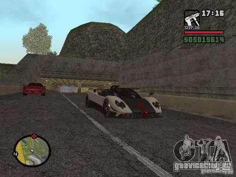 Pagani Zonda Cinque Roadster V2 для GTA San Andreas вид справа