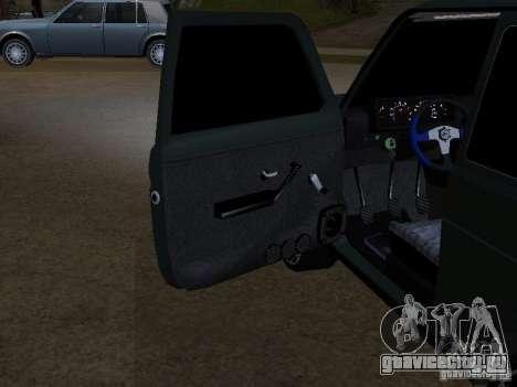 Lada Niva 21214 Tuning для GTA San Andreas вид изнутри