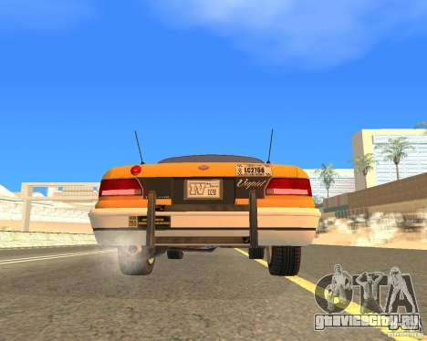 Taxi from GTAIV для GTA San Andreas вид справа
