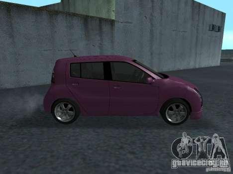 Toyota WiLL Cypha для GTA San Andreas вид сзади слева