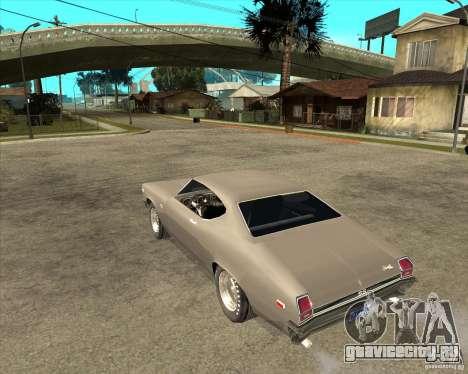 1969 Chevrolet Chevelle для GTA San Andreas вид слева