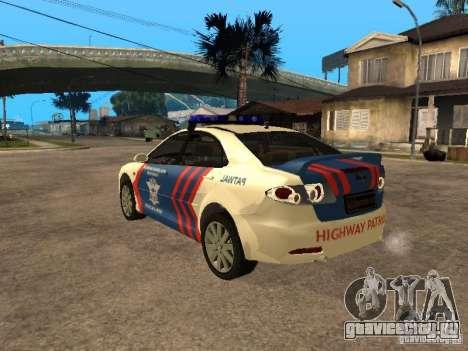 Mazda 6 Police Indonesia для GTA San Andreas вид слева
