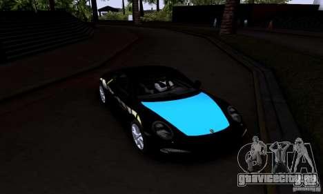 Porsche 911 Carrera S для GTA San Andreas вид сзади