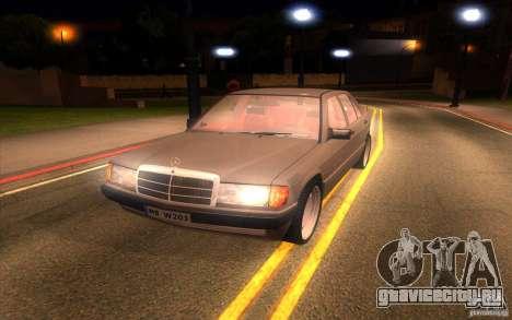 Mercedes-Benz 190E W201 для GTA San Andreas вид сзади