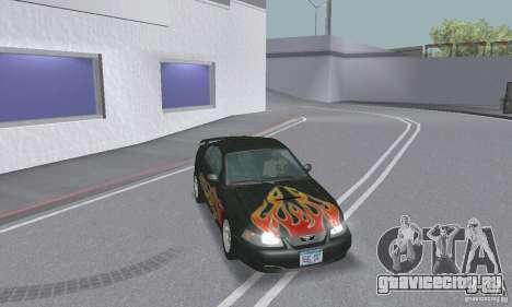 Ford Mustang GT 2003 для GTA San Andreas салон