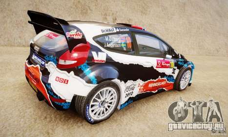 Ford Fiesta RS WRC для GTA 4 вид слева