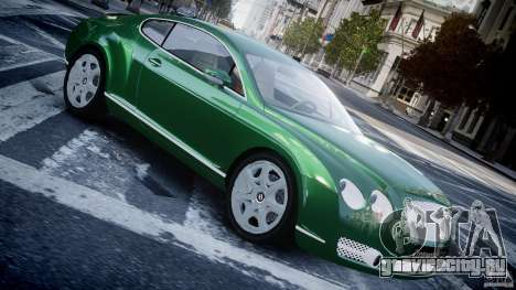 Bentley Continental GT для GTA 4 вид слева