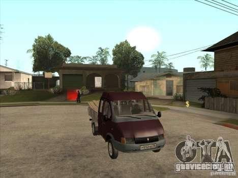 ГАЗ 33023 для GTA San Andreas вид сзади
