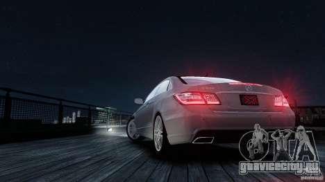Mercedes Benz E500 Coupe для GTA 4 вид сверху