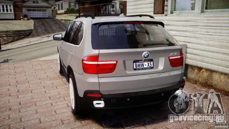 BMW X5 xDrive 4.8i 2009 v1.1 для GTA 4 вид сзади слева