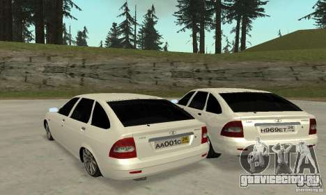 Lada Priora Hatchback для GTA San Andreas вид сзади слева
