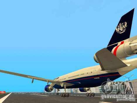 McDonell Douglas DC10 British Airways для GTA San Andreas вид сзади слева