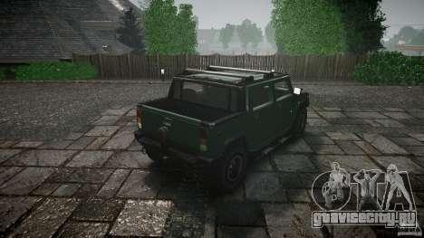 Hummer H2 для GTA 4 вид сбоку