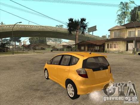 Honda Jazz (Fit) для GTA San Andreas вид сзади слева