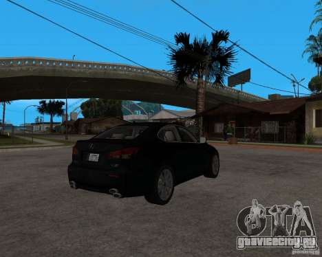 Lexus IS-F v2.0 для GTA San Andreas вид справа