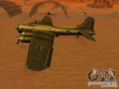B-17G Flying Fortress (Nightfighter версия) для GTA San Andreas вид справа