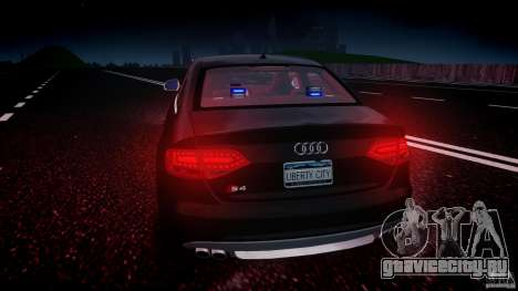 Audi S4 Unmarked [ELS] для GTA 4 двигатель