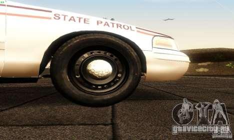 Ford Crown Victoria North Dakota Police для GTA San Andreas вид справа