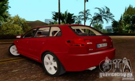 Audi A3 Sportback 3.2 Quattro для GTA San Andreas вид слева