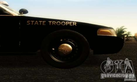 Ford Crown Victoria Texas Police для GTA San Andreas вид справа
